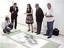 ブラジル国立美術館・ 水墨画寄贈式